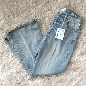 Frame Denim Jeans - NEW • Frame • Le Cropped Flare Jeans Fifty Four 26